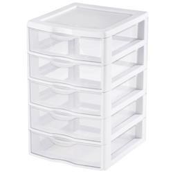 Sterilite 5 Drawer Clear View Storage Unit