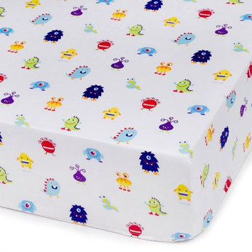 Wildkin Monsters Olive Kid Fitted Crib Sheet