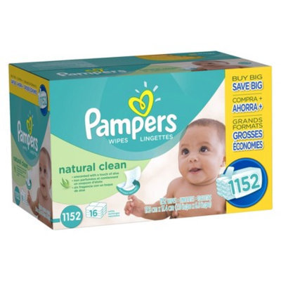 Pampers Wipes Pampers Natural Clean Baby Wipes - 1,152 Count