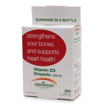 Jamieson Vitamin D3 Droplets 1000 IU