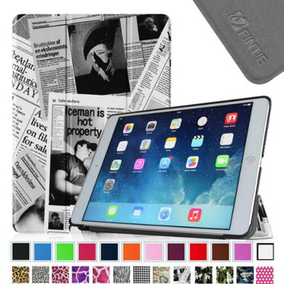 iPad Air 2 Case - Fintie Ultra Slim Stand Case with Auto Wake / Sleep Feature for Apple iPad Air 2, Newspaper