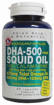 DHA 500 Squid Oil 1277 mg 60 caps by Amino Acid & Botanical
