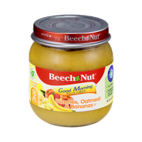 Beech-Nut® Stage 2 Good Morning Plus Fiber Peaches, Oatmeal & Bananas