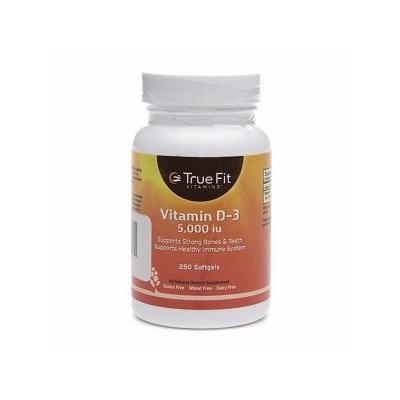 True Fit Vitamins D3 5000 IU, Softgels 250 ea