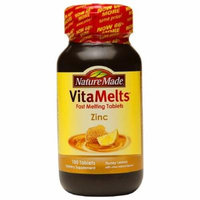 Nature Made VitaMelts Zinc 15mg, Tablets, Honey Lemon 100 ea Pack of 2