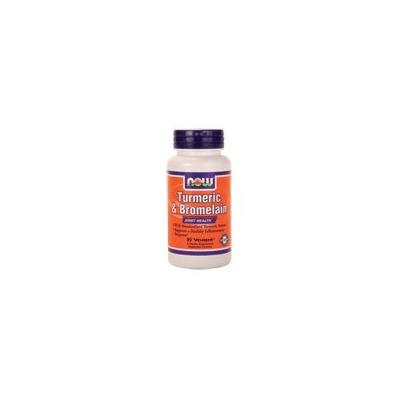 Now Foods Tumeric & Bromelain, 90 Vcaps (Pack of 4)