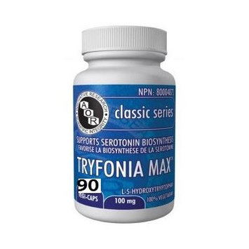 Tryfonia Max (5-HTP) 100mg (90 VeggieCaps) LARGE SIZE 5-HydroxyTryptophan Brand: A.O.R Advanced Orthomolecular Research