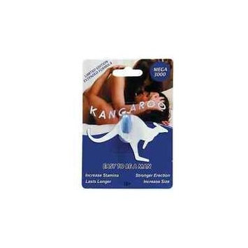 12 - KANGAROO Men's LIMITED EDITION - MEGA 3000- MALE Enhancer Pills with Bonus Gift OF 1