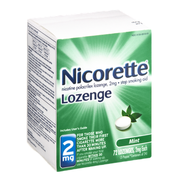 Nicorette 2mg Mint Stop Smoking Aid Lozenges - 72 CT