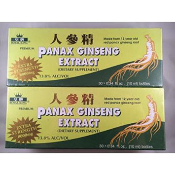 Royal King - Red Panax Ginseng Extract 8000mg (30 Vials X 10ml) - 2 Boxes