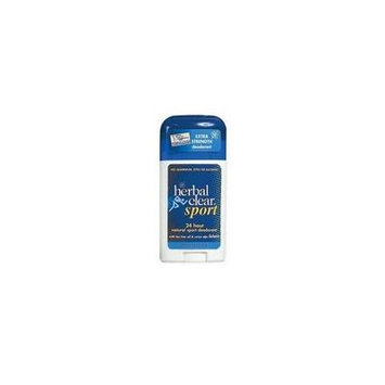 Herbal Clear Deodorant Stick, SPORT, 1.8 OZ (Pack of 4)