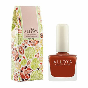 Alloya Natural Non Toxic Nail Polish, Pregnancy Safe, 035 Light tower in sunset