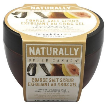 Upper Canada Soap   Candle Upper Canada Soap & Candle Sweet Vanilla Fig Coarse Salt Scrub, 9.6-Ounces
