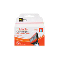 DG Body Men's 5-Blade Razor Replacement Cartridges - 2 ct