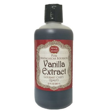 Spicy World Madagascar Bourbon Pure Vanilla Extract 32 Ounce - One Month Cold Extraction Process! No Heat or Pressure Used!