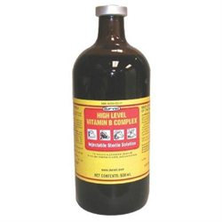Durvet Inc D Durvet Inc High Level Vitamin B Complex- Yellow 500 Milliliter - 02 1112303
