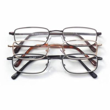 Optx 2020 3-Pair ValuPac Alloy Reading Glasses, 4.00