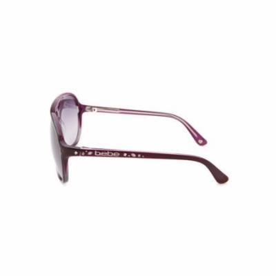 Bebe Women's Classy Aviator Purple Sunglasses
