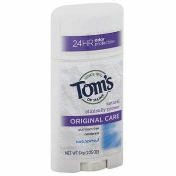 Tom's of Maine Original Care Unscented Aluminum-Free Deodorant, 2.25 oz, (Pack of 6)