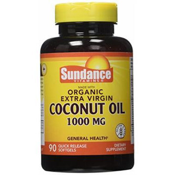 Sundance Organic Ev Coconut Oil 1000mg, 90 Count