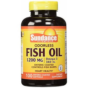 Sundance Odorless Ec Fish Oil 1200mg, 100 Count