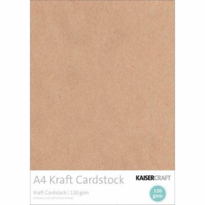 Kaisercraft 120gsm Cardstock, A4, 20pk, Kraft