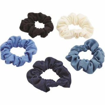 Goody Ouchless Denim Scrunchies, 5 count