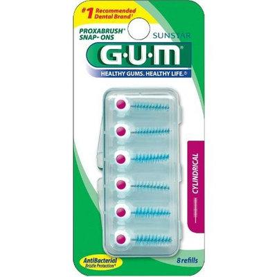 Butler G U M GUM Proxabrush Snap on Refills, Cylindrical 622r - 8 Ea (Pack of 4)