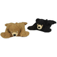 HuggleHounds Bear Squares Dog Toy, Black