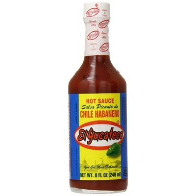 El Yucateco Chile Habanero Hot Sauce Bottle, Red, 8 Ounce