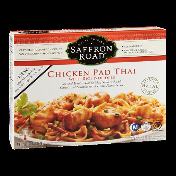 Saffron Road Chicken Pad Thai With Rice Noodles