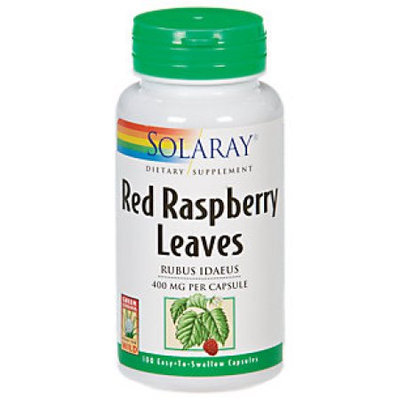 Solaray - Red Raspberry Leaves 400 mg. - 100 Capsules