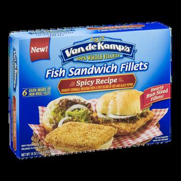 Van de Kamp's Fish Sandwich Fillets Spicy Recipe - 6 CT
