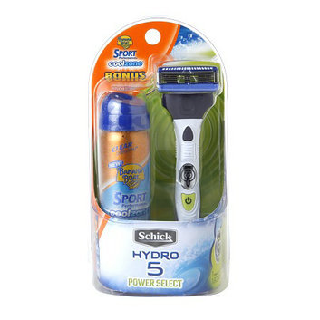 Schick Hydro 5 Power Select Razor with Banana Boat Cool Zone Sunscreen