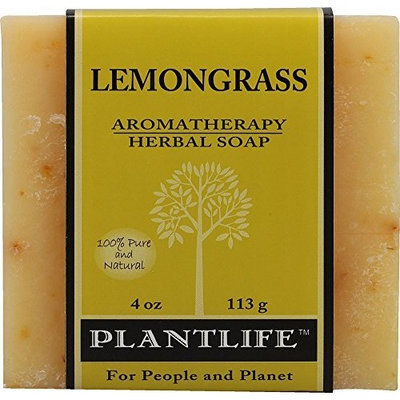 Plantlife Lemongrass 100% Pure & Natural Aromatherapy Herbal Soap 4 oz 113g