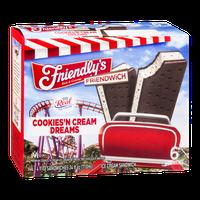 Friendly's Friendwich Cookies'N Cream Dreams Ice Cream Sandwich - 6 CT