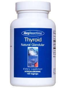 Allergy Research Group Thyroid Natural Glandular 100c