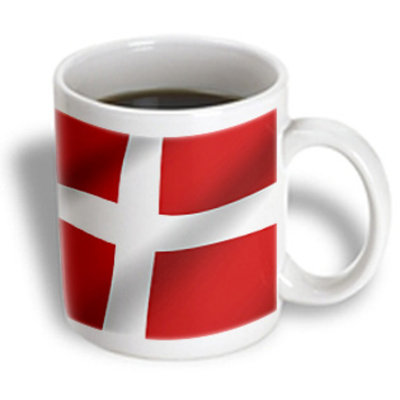 Recaro North 3dRose - Flags - Denmark Flag - 11 oz mug