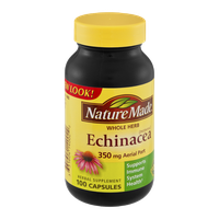 Nature Made Echinacea Whole Herb 350mg Aerial Part Herbal Supplement Capsules - 100 CT