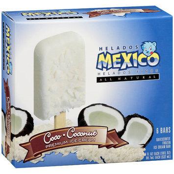 Helados Mexico Coco-Coconut Premium Ice Cream Bars, 18 fl oz