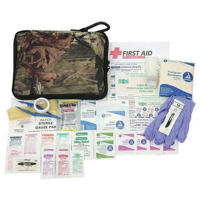 PHYSICIANSCARE 90458 First Aid Kit, Portable, Camouflage, Fabric