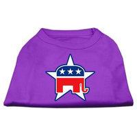 Mirage Pet Products 517607 XXXLPR Republican Screen Print Shirts Purple XXXL 20