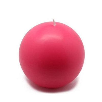 Zest Candle 4 Hot Pink Ball Candles (2pc/Box)