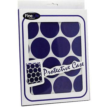 KTA Apple iPad 2/3 Plastic Case, Blue Dots