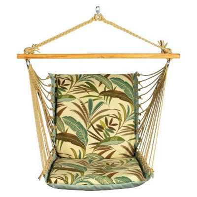 Algoma Net Company Soft Comfort Patio Hanging Chair - Brown/Green Tropical