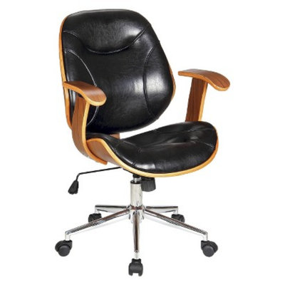 Office Chair: Boraam Industries Rigdom Office Chair - Black