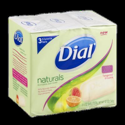 Dial® Naturals Glycerin Bar Soap Tangrine & Guava