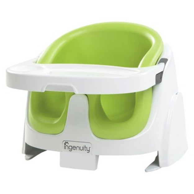 Ingenuity Baby Base 2-in-1 Booster Seat - Lime Green