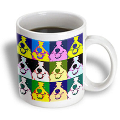 Recaro North 3dRose - Sandy Mertens Right Pop Art Designs - Border Collie Pop Art - 11 oz mug