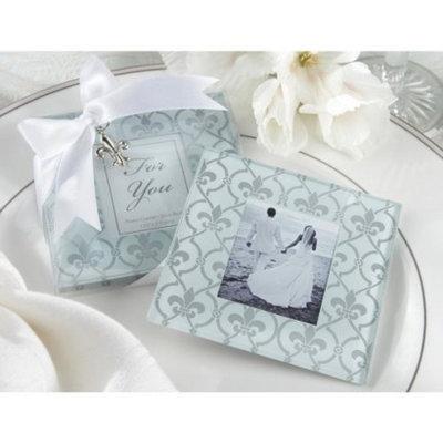 Kate Aspen Fleur-de-Lis Glass Photo Coasters 12-ct.